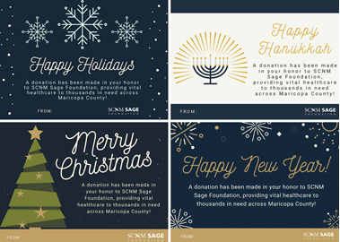 SCNM Sage | holiday cards